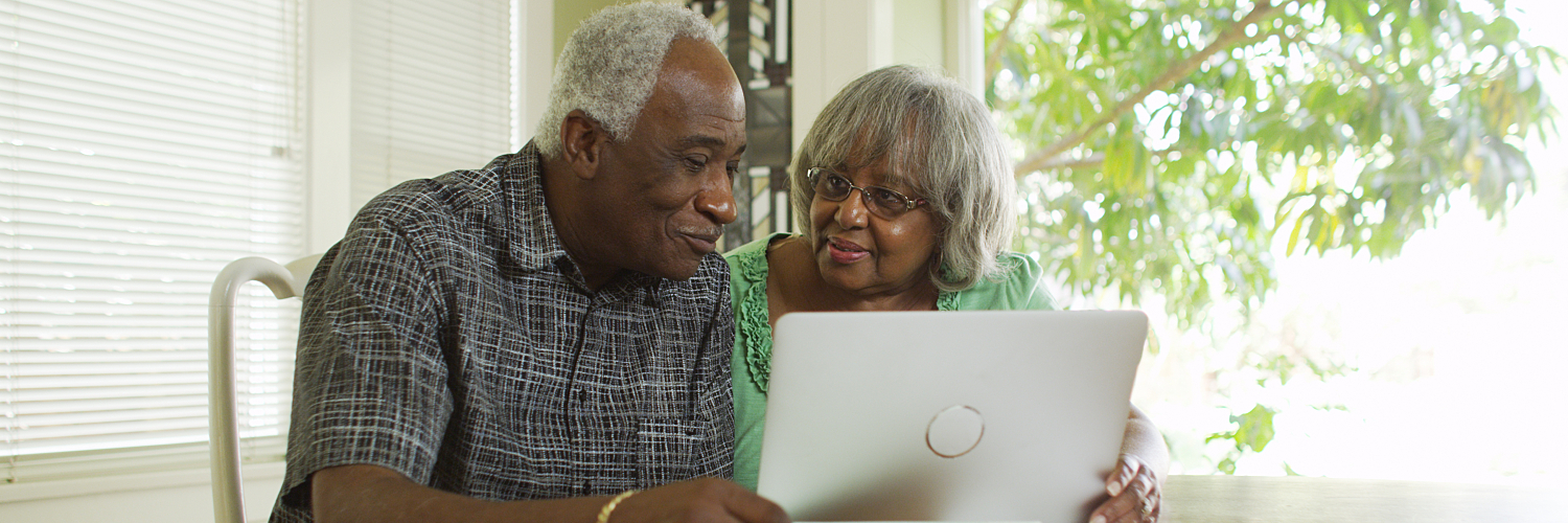 Senior couple planning for retirement